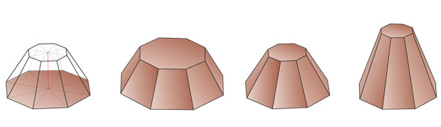 truncated octagonal pyramid 8 2
