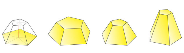 truncated pentagonal pyramid 5 2