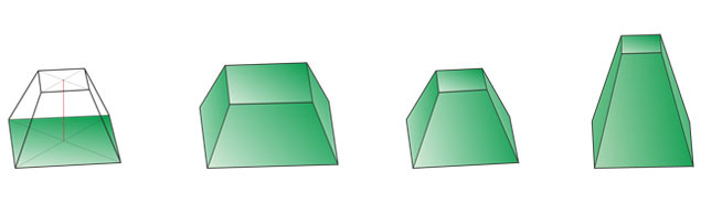 truncated quadrangular pyramid 4 2
